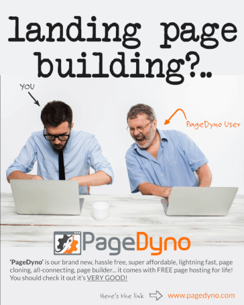 PageDyno - A lead-page creation app that lets anyone quickly and easily create high-converting lead pages in about three minutes